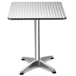 Giantex Bar Table Foldable and Adjustable Design for Indoor& Outdoor, Gardern, Balcony, Livi ...
