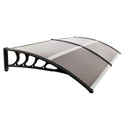 Simply-Me 40″ x 80″ Door Window Awning Polycarbonate Cover Front Door Outdoor Patio  ...