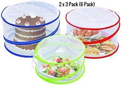 Outdoorwares 3 Pop Up Food Cover Protectors Set | Fine Mesh Screen, Bottomless & Collapsible ...