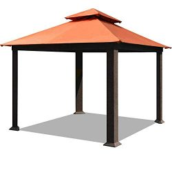 EliteShade 12×12 Sunbrella Titan Patio Outdoor Garden Backyard Gazebo with Ventilation and  ...