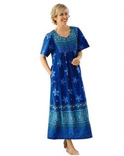 National Island Tribal Lounger, Blue Print, Medium