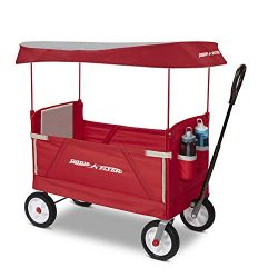 Radio Flyer 3 in 1 Off-Road EZ Fold Wagon with Canopy