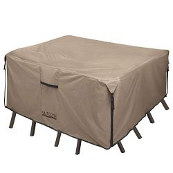 ULTCOVER Square Patio Heavy Duty Table Cover – 600D Tough Canvas Waterproof Outdoor Dining ...