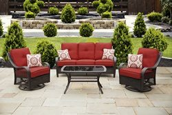 Hanover ORLEANS4PCSW-B-BRY Orleans, Autumn Berry Outdoor 4 Piece All-Weather Patio Set