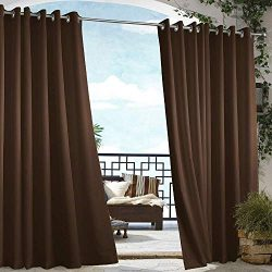 Cross Land Outdoor Waterproof Patio Curtains Drapes Canopy Gazebo Privacy Water & Wind Repel ...
