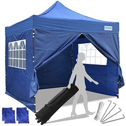 Galsoar Pop Up Canopy 10×10 Commercial Gazebos, Ez Up Canopy Tent Instant Shelter with 4 Re ...