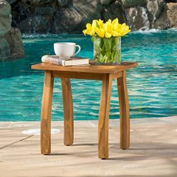 Sadie Outdoor Accent Side Table | Acacia Wood
