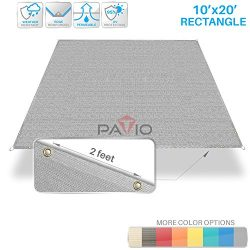 Patio Paradise 10′ x 20′ Straight Edge Sun Shade Sail, Light Grey Rectangle Outdoor  ...