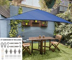 12′ Triangle Sun Shade Sail Canopy in Cobalt Blue – Durable Outdoor Patio Cover Perg ...