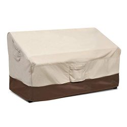 Vailge 2-Seater Heavy Duty Patio Deep Bench Loveseat Cover, 100% Waterproof Outdoor Deep Sofa Co ...