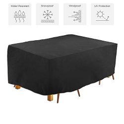Patio Outdoor Cover, Outdoor Table Cover, Rectangular Garden Furniture Set Cover, Water and UV R ...