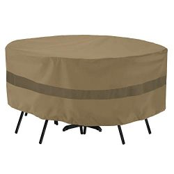 SunPatio Outdoor Table and Chair Cover, Heavy Duty Waterproof Patio Furniture Set Cover with Sea ...