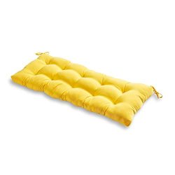 Greendale Home Fashions 51-Inch Indoor/Outdoor Bench Cushion, Sunbeam