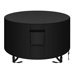 YDA 50 inch Patio Round Fire Pit Cover Weather Resistant and Waterproof Outdoor Table Cover