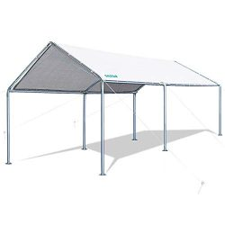 Galsoar 10x20FT Outdoor Heavy Duty Carport Car Canopy Shelter with 6 Steel Legs and 3 Reinforced ...