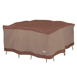 Duck Covers Ultimate Square Patio Table with Chairs Cover, 76-Inch