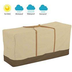 willstar Outdoor Patio Cushion Storage Bag Heavy Duty 600D Waterproof with Rust Proof Zipper, St ...