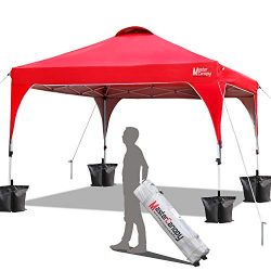 MasterCanopy Patio Pop Up Instant shelter 10×10 Beach Canopy Better Air Circulation Canopy  ...