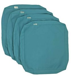 CozyLounge Indoor Outdoor Water Repellent High UV Resistant Patio Chair Cushion Cover (20″ ...