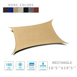 "LOVE STORY 16'5′ 'x 19'5"" Rectangle Sand UV Block Sun Shade Sail f ..."