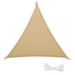 Qdreclod 16'x16'x16′ Sun Shade Sail Canopy for Outdoor Sun Protection Garden P ...