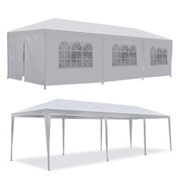 F2C 10'x30′ Outdoor Gazebo White Canopy with sidewalls Party Wedding Tent Cater Even ...