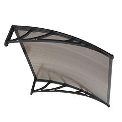 40″ x 40″ Door Window Outdoor Awning, Outdoor Canopy Patio Cover UV Rain Snow Sun Sh ...