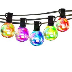 25Ft Multicolor Outdoor String Light – G40 Led Patio Lights String for Backyard Or Party,V ...
