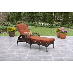 Better Homes & Gardens* Outdoor Chaise Lounge in Burnt Orange