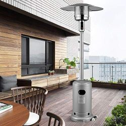 mecor Patio Heaters Commercial 41,000 BTU Propane Stainless Steel Outdoor Garden Heate (Silver Gray)