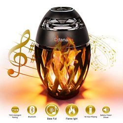 Djtanak Led Bluetooth Speaker, Flame Ambience Lantern Outdoor Speakers with Stereo Sound, Portab ...