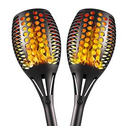 Aityvert Upgraded Solar Torch Lights 43 inches Flickering Dancing Flames Solar Torches Outdoor W ...