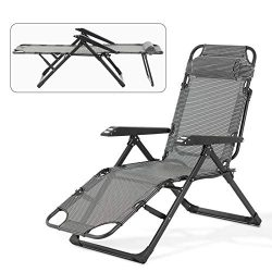 Mecor Lounge Chairs Folding Bed Adjustable Recliner Patio Chairs Folding Recliner Outdoor Indoor ...