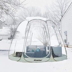 Alvantor Winter Screen House Room Camping Tent Canopy Gazebos 12-16 Person for Patios, Large Ove ...