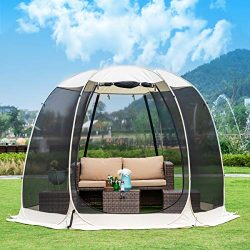 Leedor Gazebos for Patios Screen House Room 6-8 Person Canopy Mosquito Net Camping Tent Dining P ...