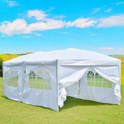 charaHOME 10'x20′ Outdoor Canopy Tent, Pop up Canopy Tent,Gazebo Portable Wedding Pa ...