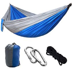 Outdoors Cotton Fabric Canvas Travel Hammocks with Tree Ropes 330lbs Ultralight Camping Hammock  ...