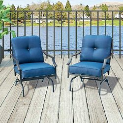 Top Space Patio Chairs Outdoor Rocking Chair Bistro Set Patio Conversation Set,Motion Metal Outd ...