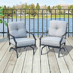 Top Space Bistro Set Patio Conversation Set Bar Stools,Metal Outdoor Furniture with 2 Patio Chairs