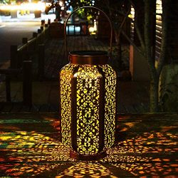 Solar Lantern Outdoor Solar Hanging Lanterns Solar Garden Lights Patio Decor Metal Yard Art Gard ...