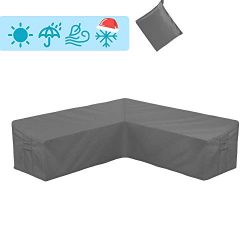 STARTWO Outdoor V Shaped Sectional Sofa Cover,Heavy Duty Waterproof Patio Sectional Furniture Se ...