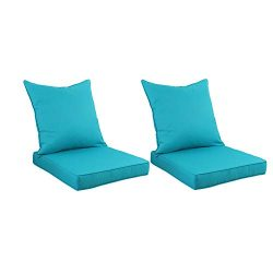 Outdoor Deep Seat Chair Cushion Set – Replacement Cushions for Patio Furniture with Water  ...