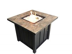 AZ Patio Heaters AFP-STT Square Slate Tile Top 40,000 BTU Propane Fire Pit, Bronze