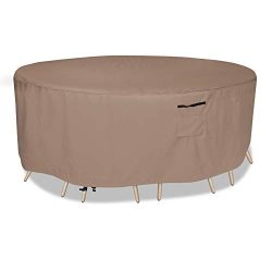 Patio Furniture Cover, Waterproof, Tear-Resistant, UV Resistant Outdoor Round Table Chairs Dinin ...