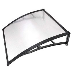 Instahibit 39×39″ Window Awning Door Cover UV Rain Snow Protection Outdoor Patio Cano ...