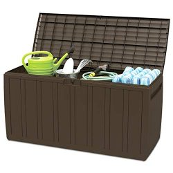Giantex 80 Gallon Deck Box W/Handles for Easy Carrying Garden Container for Patio Garage Shed Ba ...