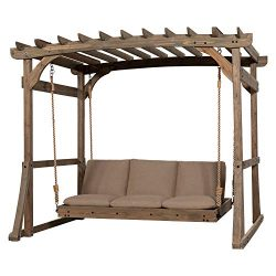 Backyard Discovery 1906631 Claremont Pergola Lounger, Brown