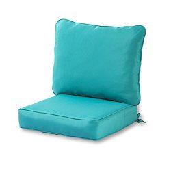 Greendale Home Fashions Deep Seat Cushion Set, Teal