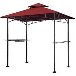 Keymaya 8×5 Grill Gazebo Shelter for Patio and Outdoor Backyard BBQ's, Double Tier So ...