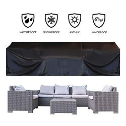 JOORY Patio Furniture Cover Outdoor sectional Furniture Covers Waterproof Dust Proof Furniture L ...